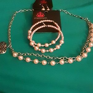 Paparazzi necklace and 2 sets of earrings